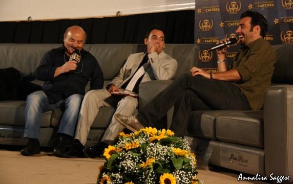 Edoardo Leo e Salvatore Misticone con Carlo Fumo ITALIAN MOVIE AWARD 2014